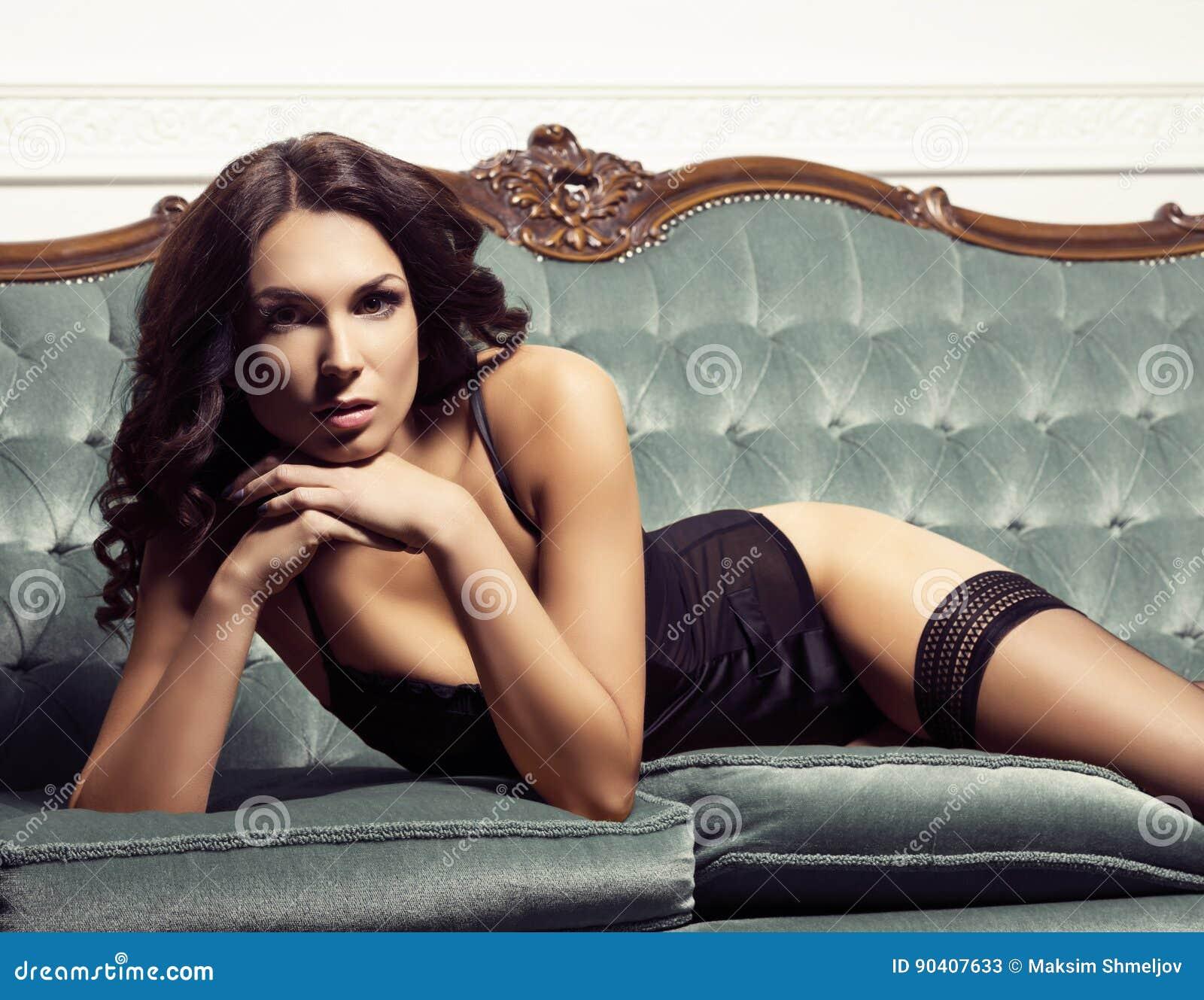 Erotic black stockings