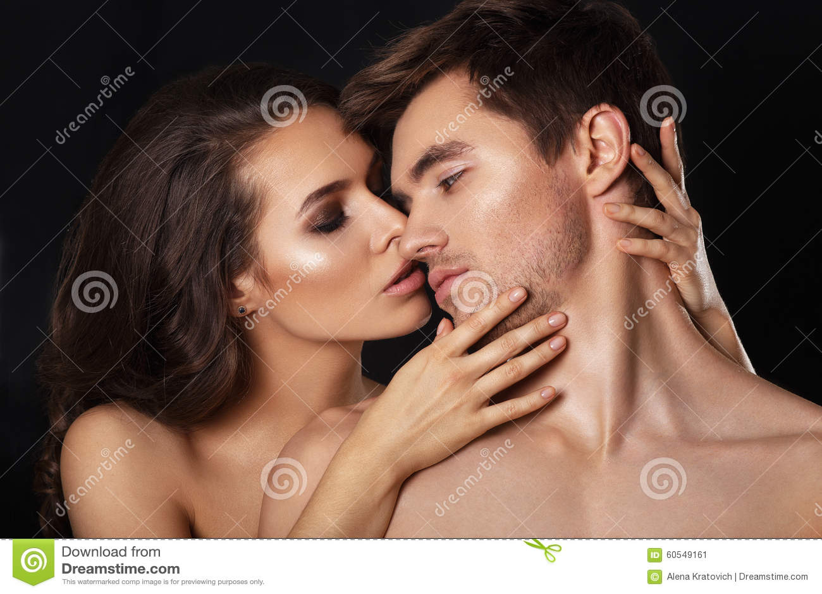 White Black Lesbians Kissing