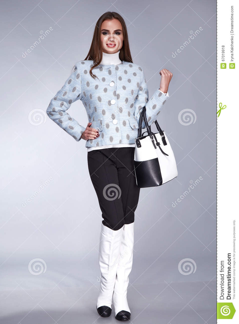 Sexy Beauty Woman Clothes Makeup Fashion Style Royalty Free Stock Image