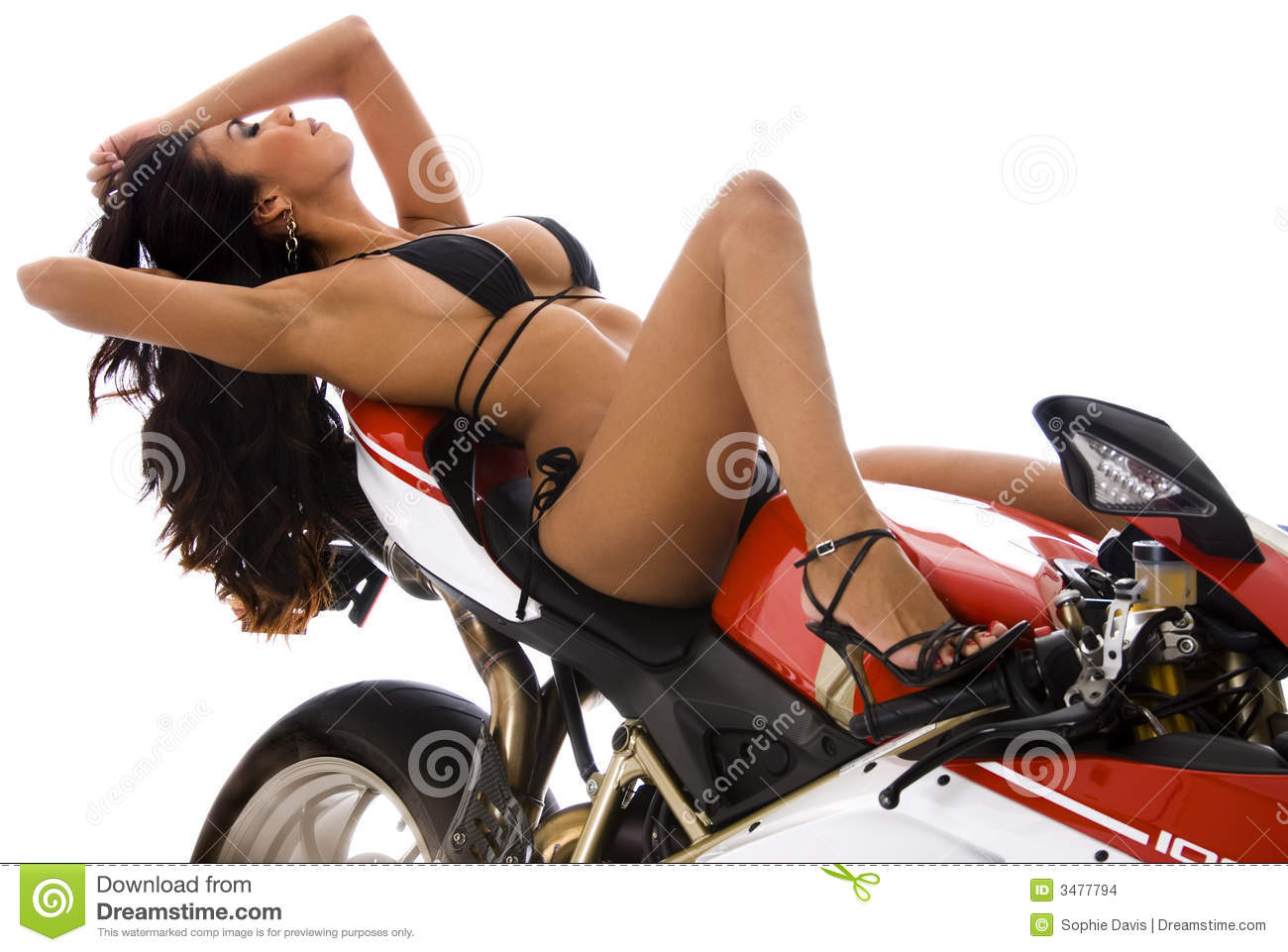 Sexy Biker Chick Stock Images - Image 3477794-6594