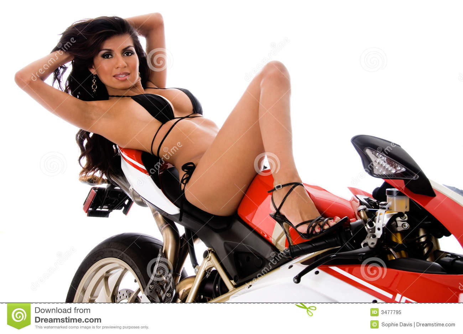 Biker chicks bikinis