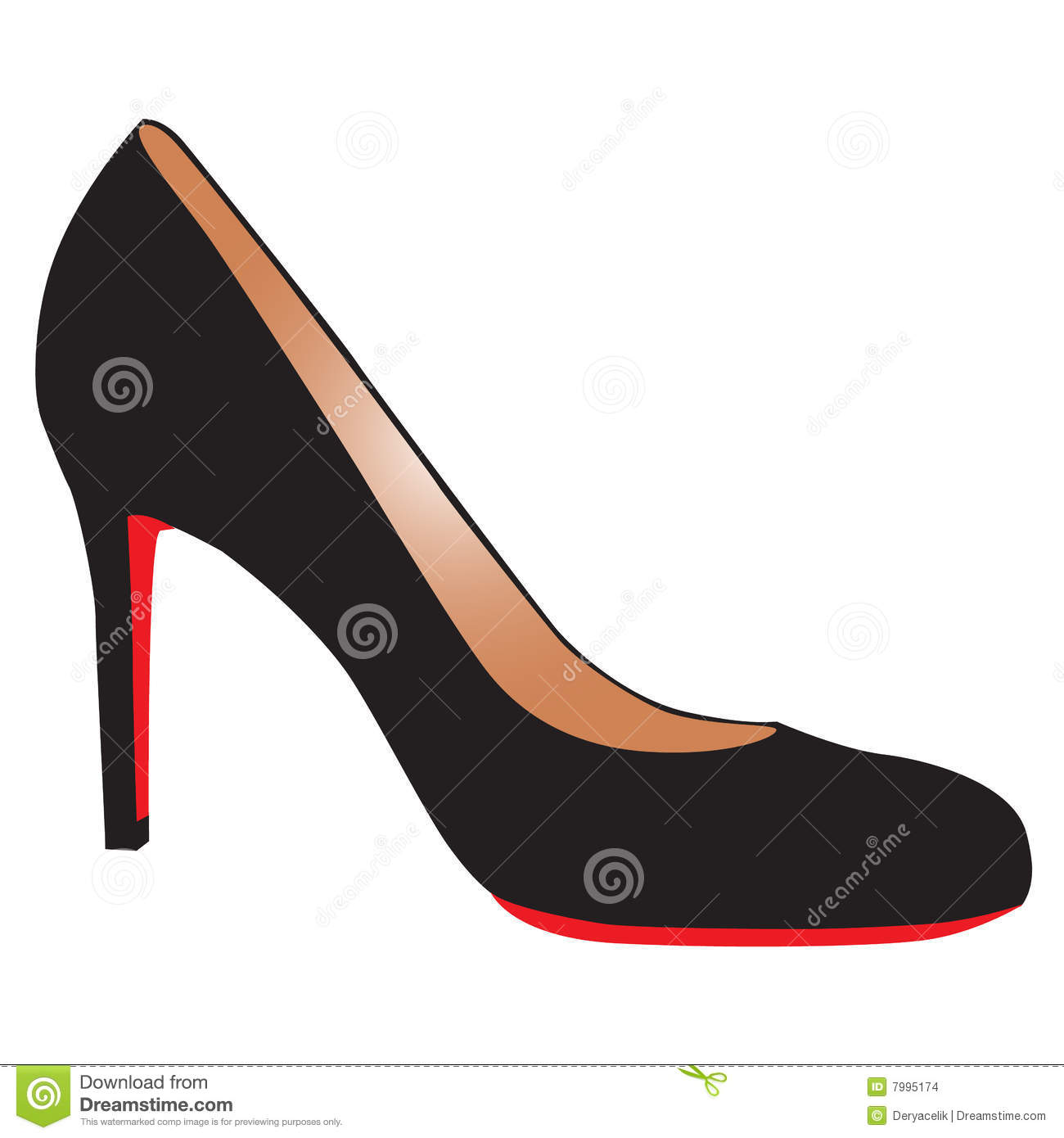 High Heels Black And Red
