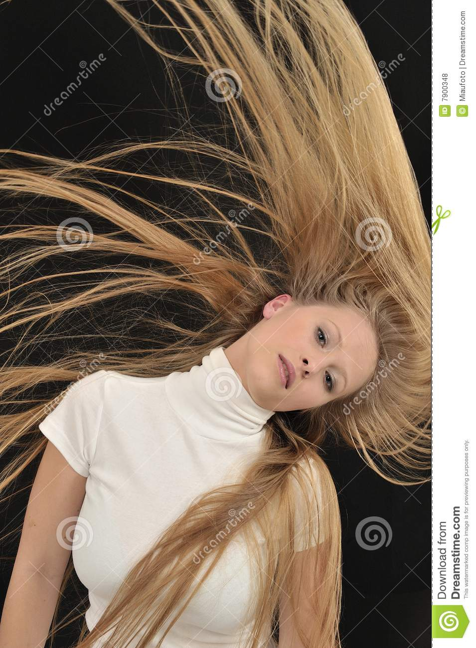 Sexy Blond Long Hair Teen Age Girl Royalty Free Stock
