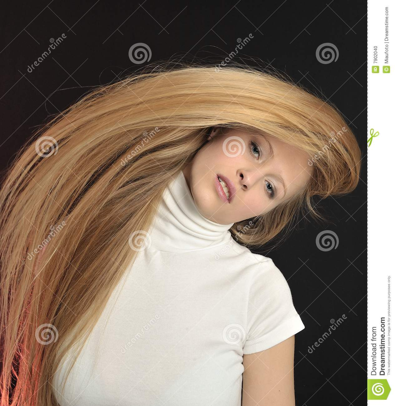 Blond Long Hair Teen Age Girl Stock Photo - Image Of Beautiful, Girl -9025