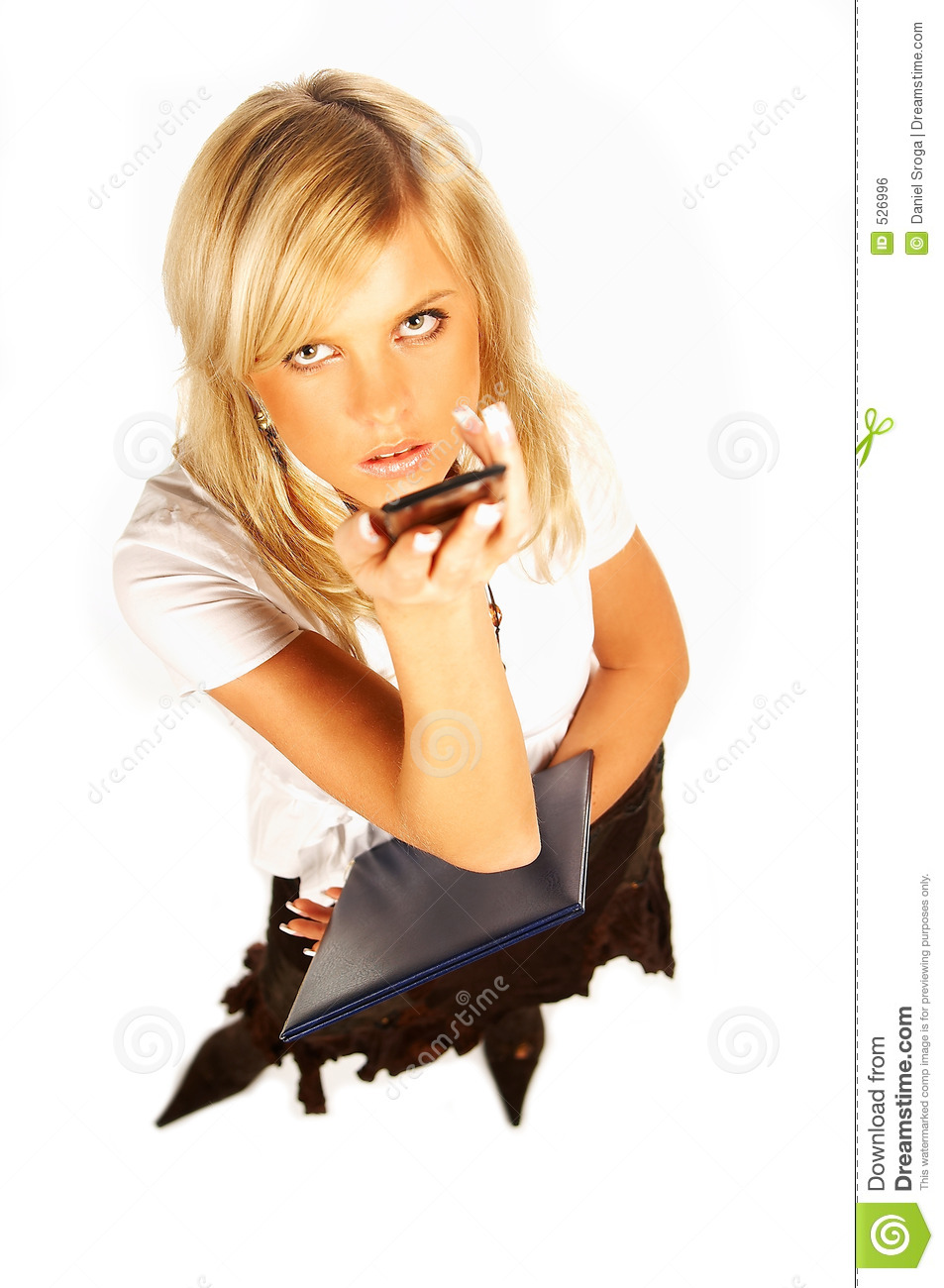 Business Woman On The Phone Stock Photo - Image of