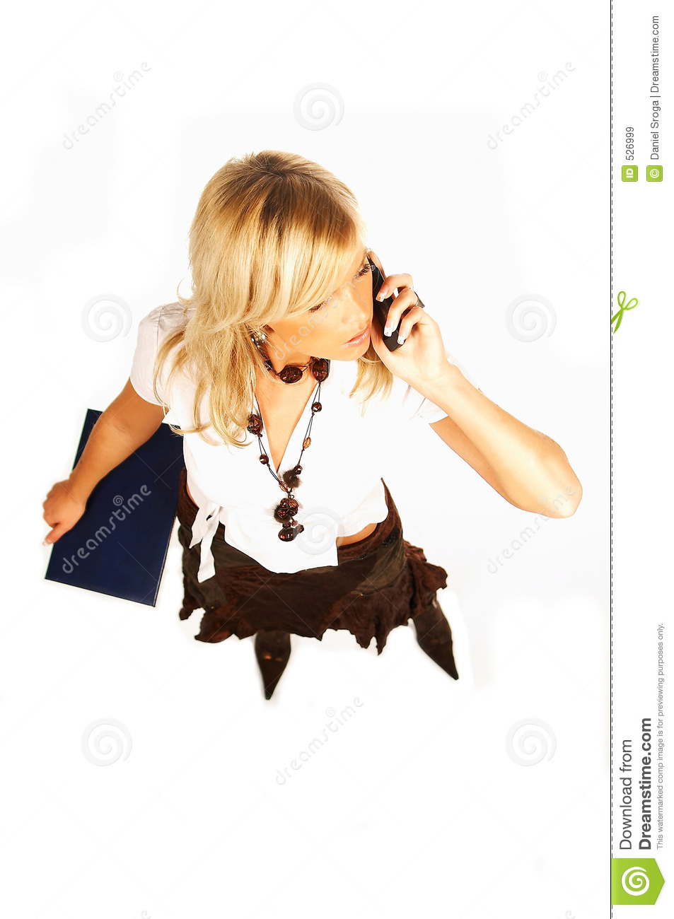 Blonde Girl With Cell Phone Stock Photo - Image of
