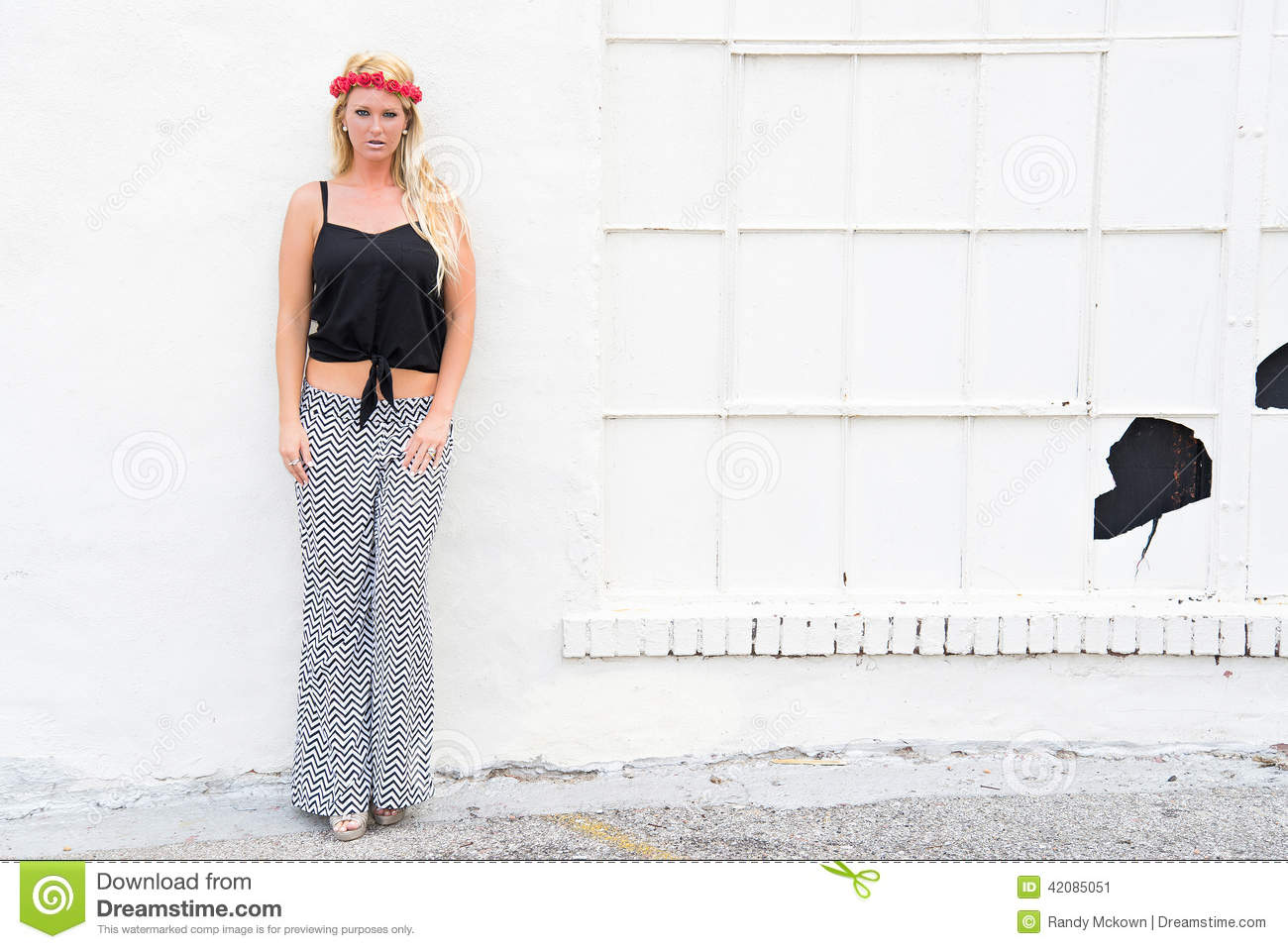 Blonde Girl Urban Fashion Model Stock Image Image 42085051