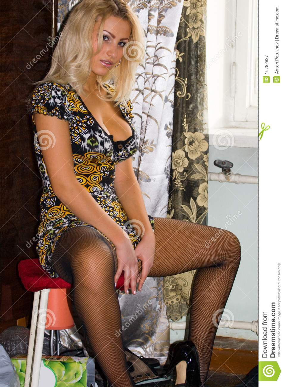 Sexy blonde haired vrouw