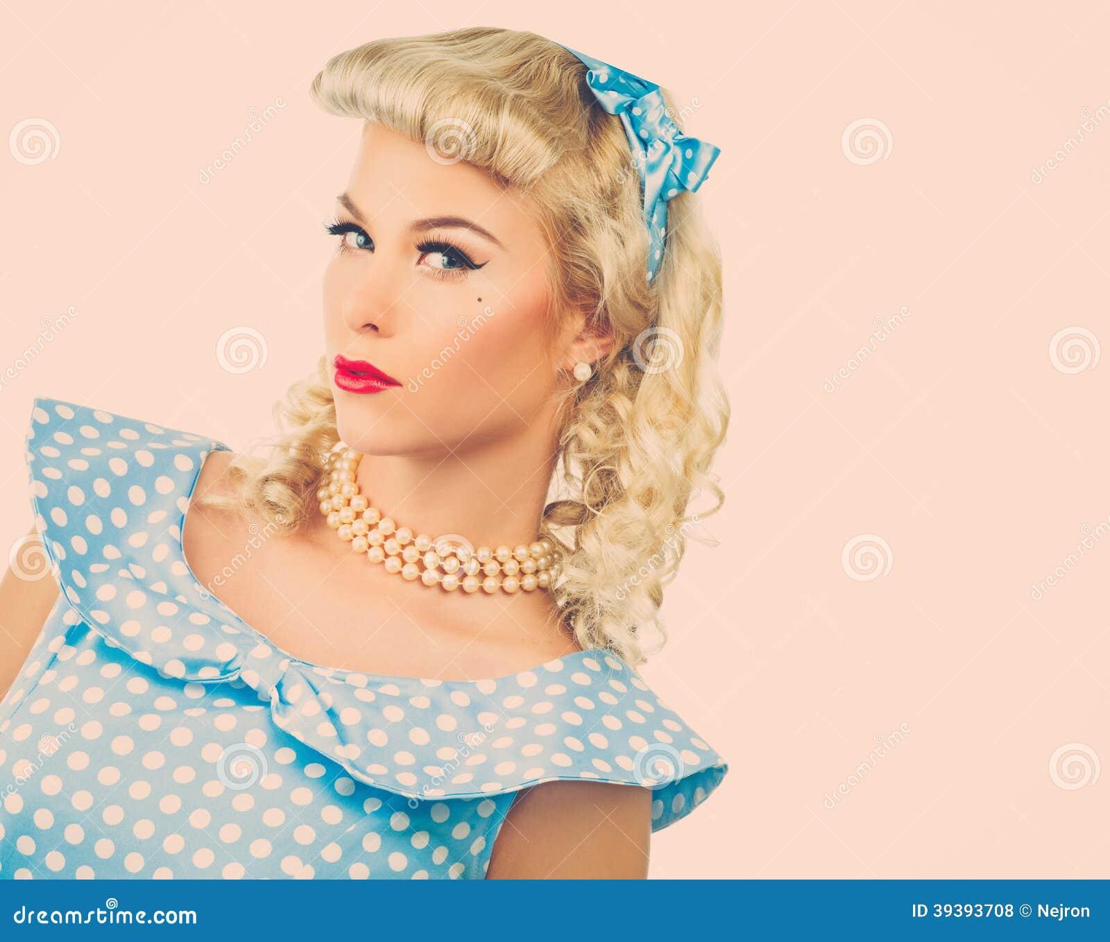 Sexy blonder Stift herauf junge Frau