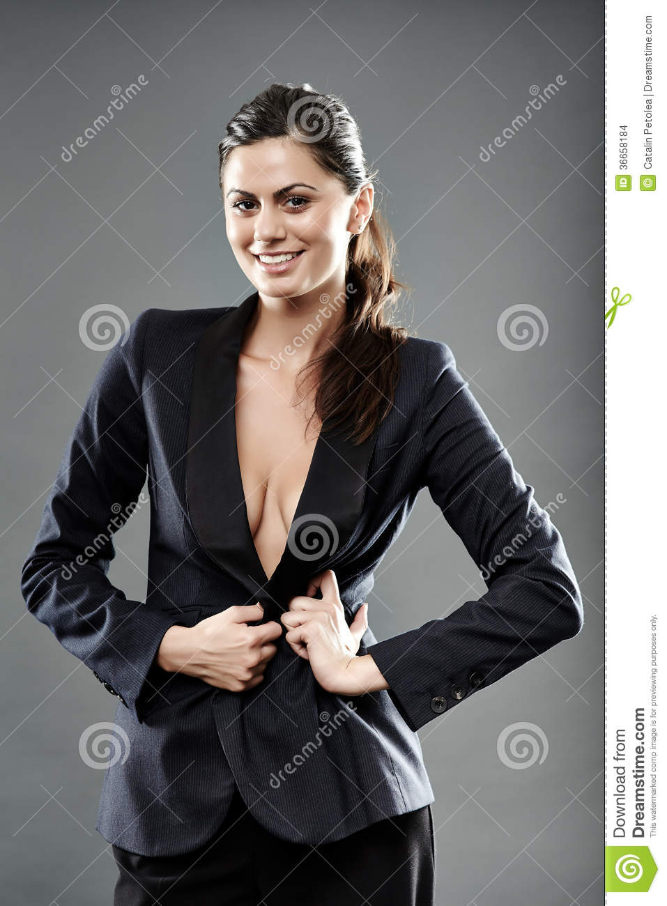 sexy nude business woman