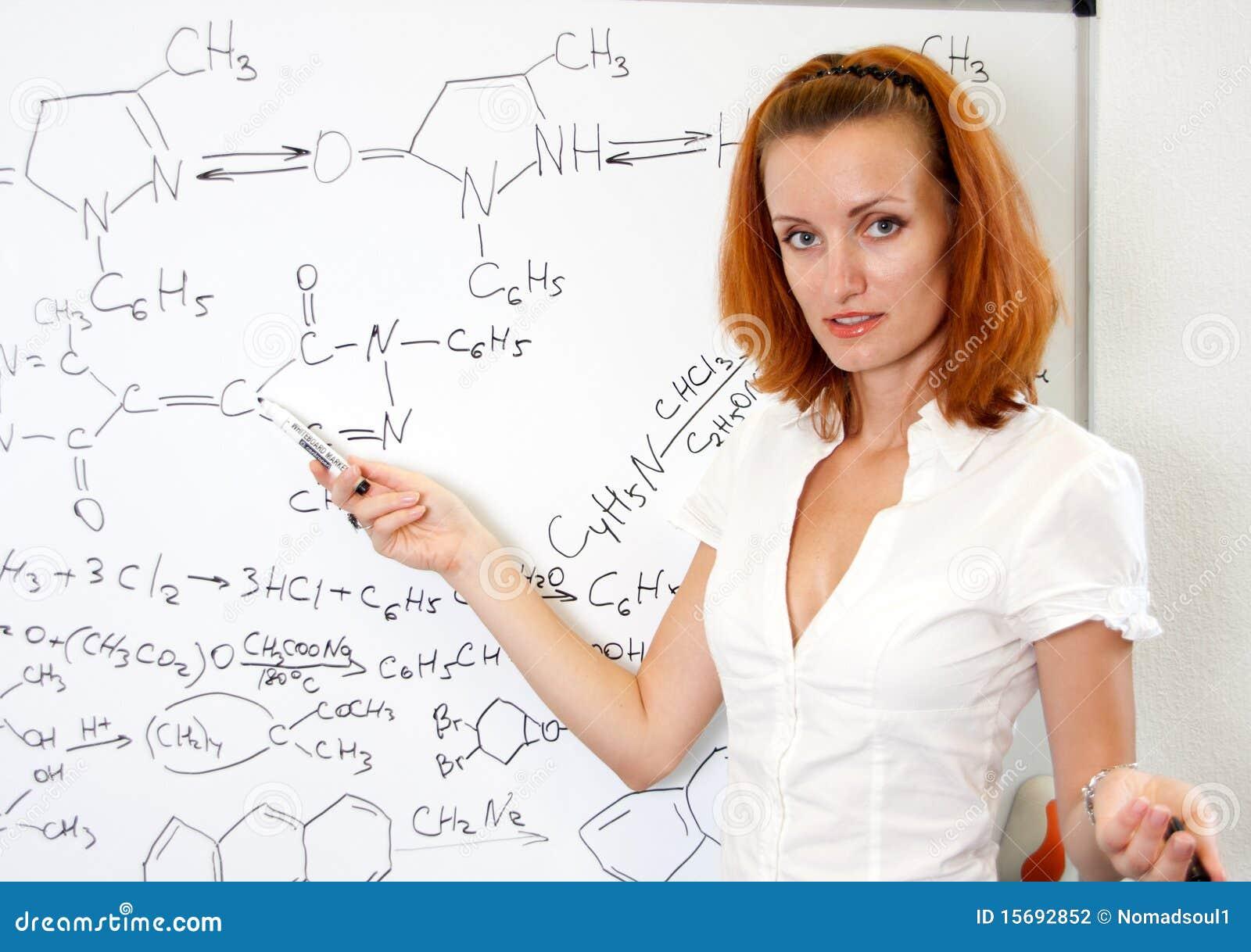 Chemistry Teacher Stock Photo Image Of Brainstorming - 15692852-9954