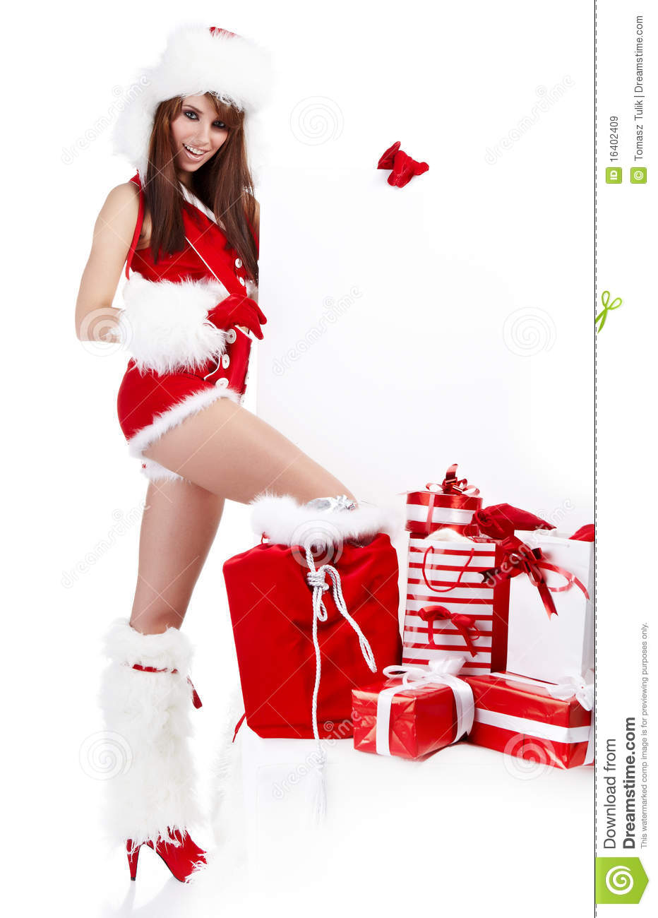 Sexy christmas girl royalty free stock images image 16402409