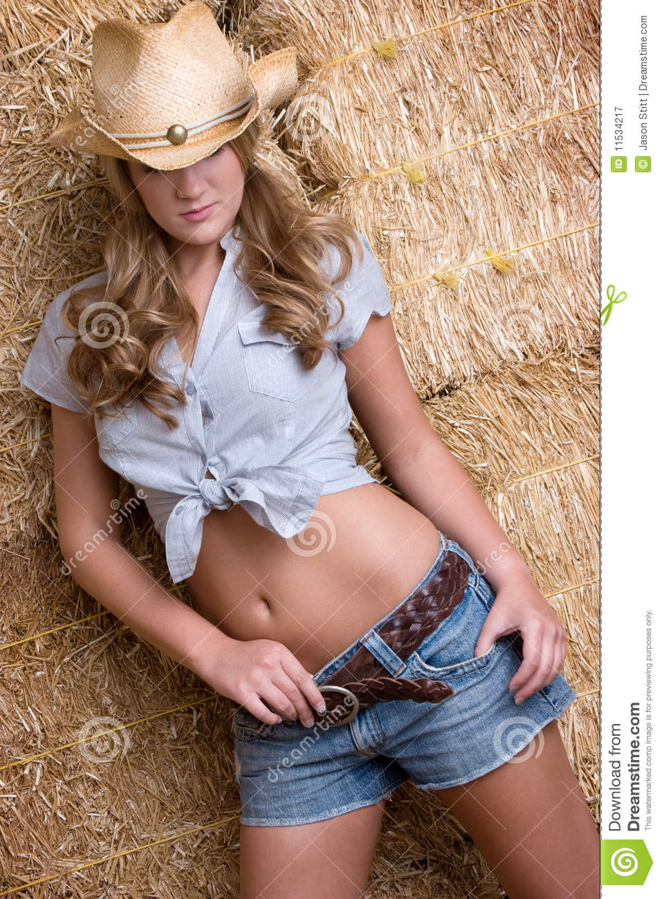 Sexy Country Woman Royalty Free Stock Photography Image