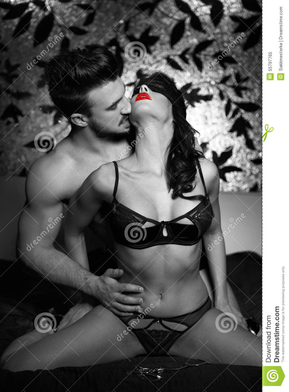 Erotic sensual couples black and white