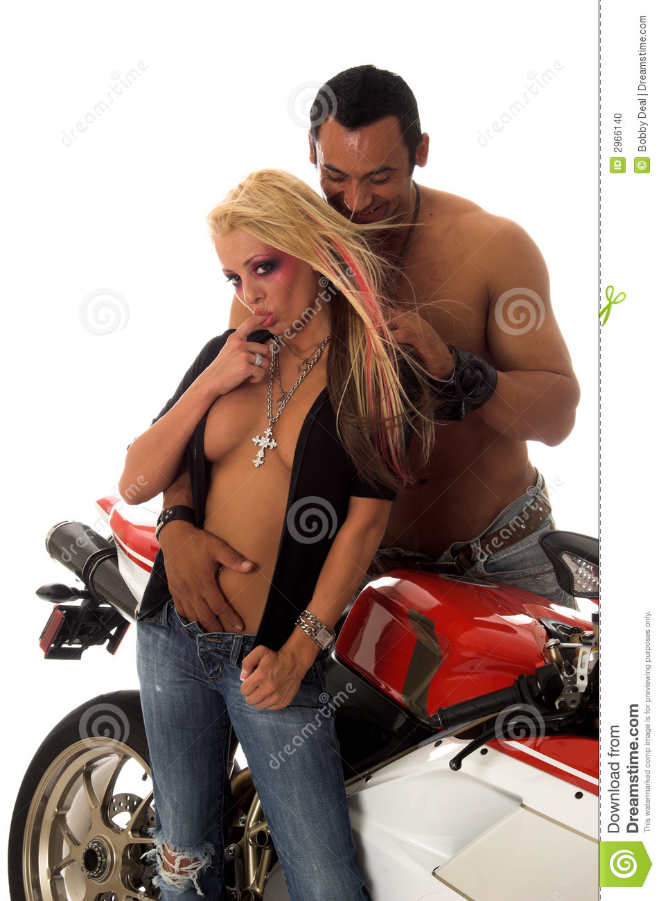 from Christian sexy couple on motorcycle