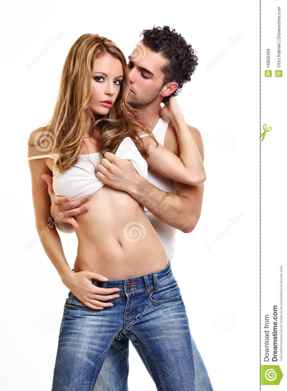Sexy Couple On White Background Royalty Free Stock Images