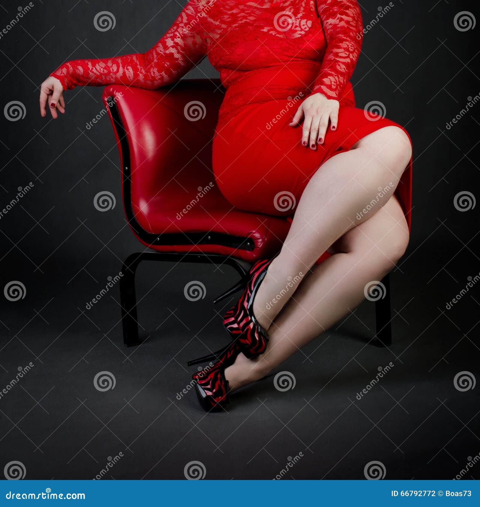 Sexy Detail von a plus Größenmädchenkörper