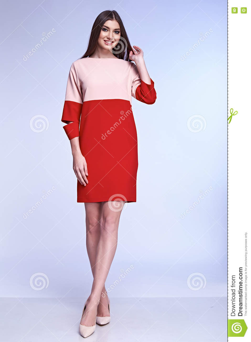 Silk Meeting In My Bedroom: Elegant Woman Natural Beauty Fashion Style Clothes Casual