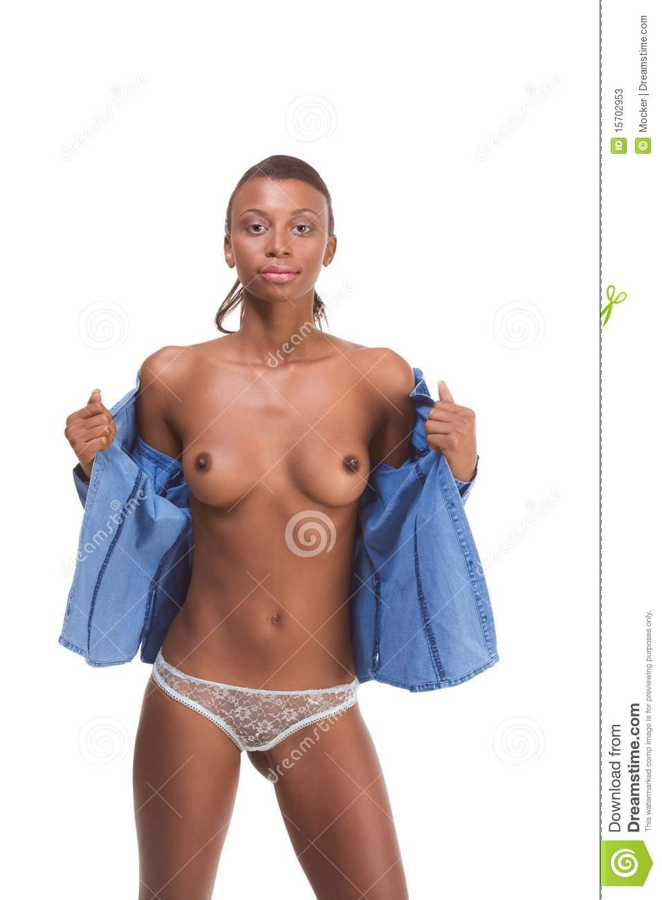 Black naked female models
