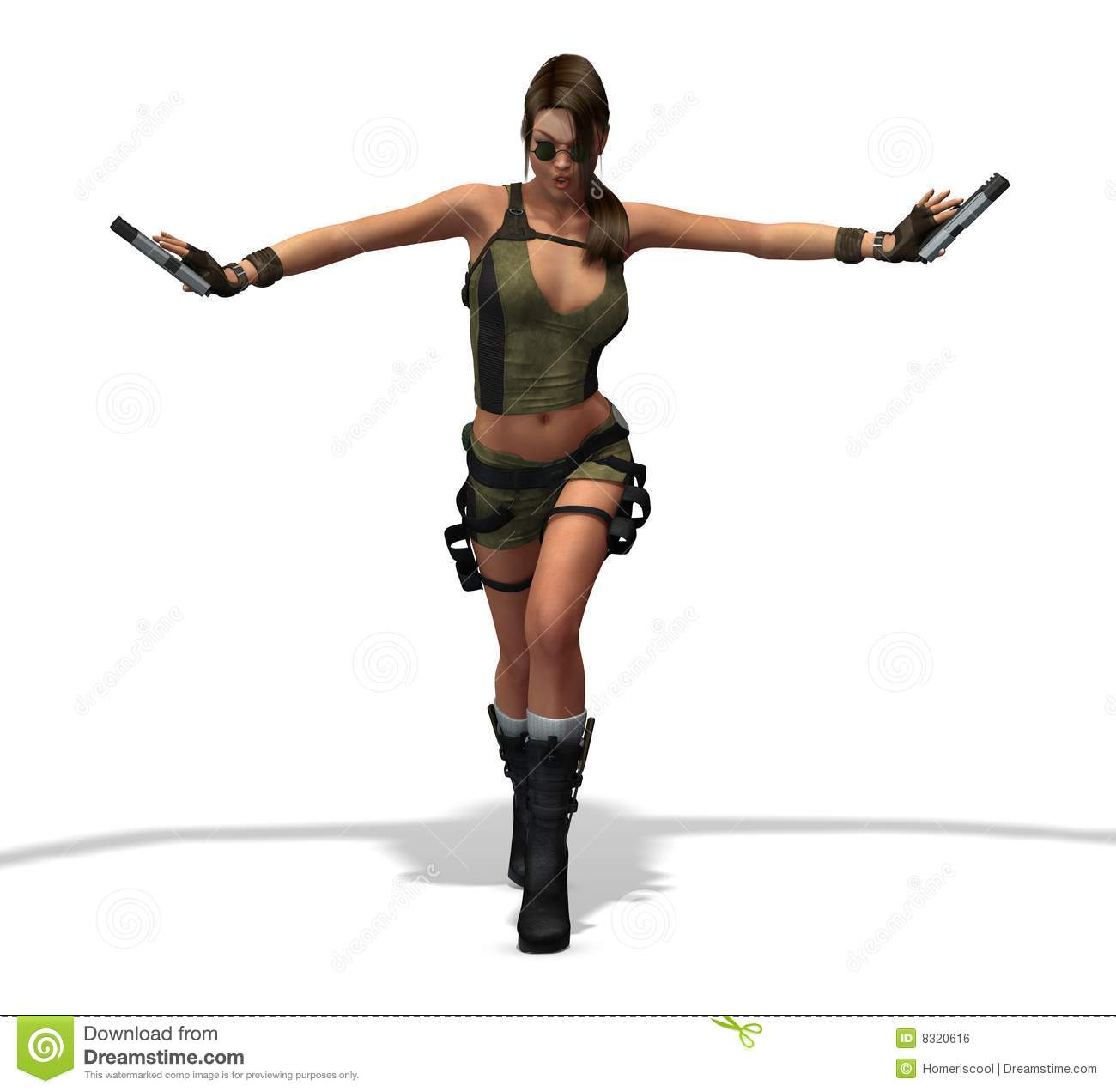 Swat Officer Sexy Female Assassin H...