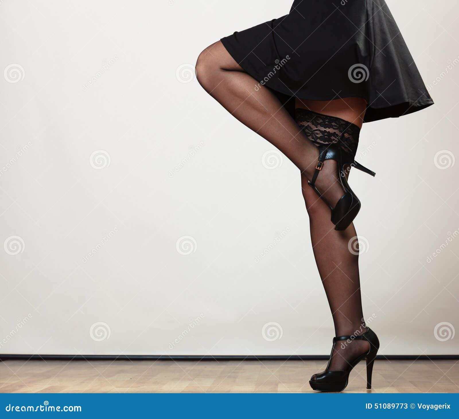 Female Legs In Dance Stock Image Image Of Stockings