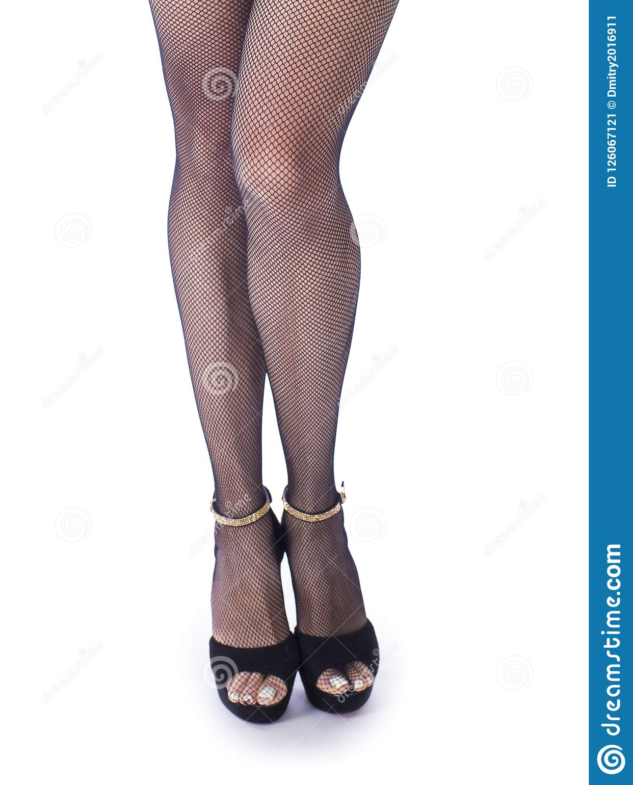 Join. All black high heels and stockings