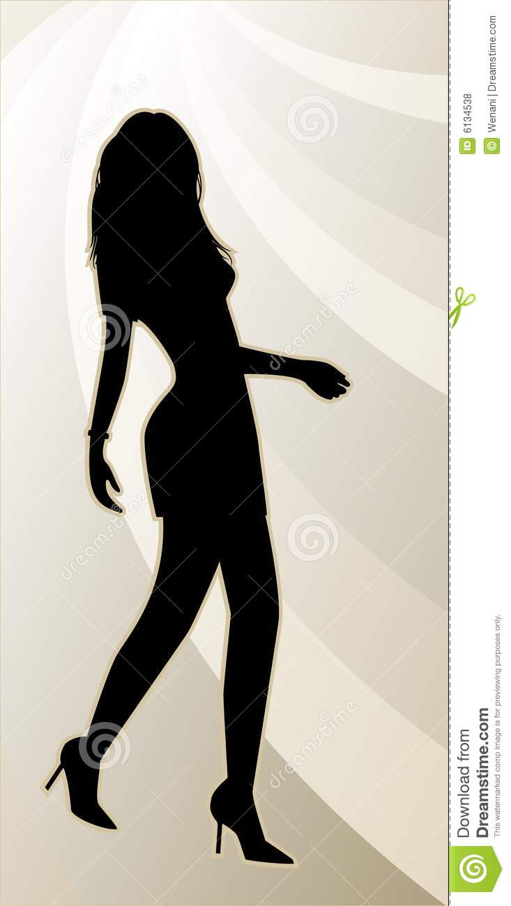 Sexy female silhouette royalty free stock photos image 6134538