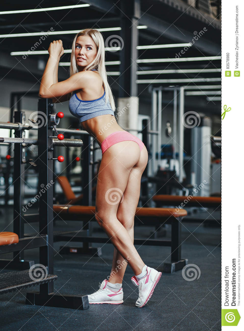 Fitnessstudio Workout Blonde Teens