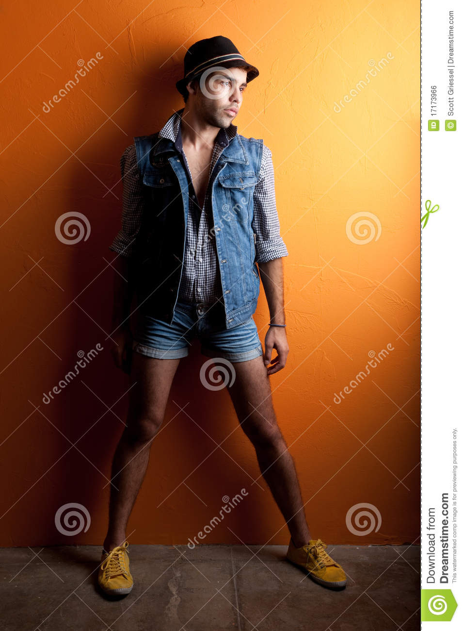 Sexy Gay Man In Jeans And Hat Royalty Free Stock Image -7283