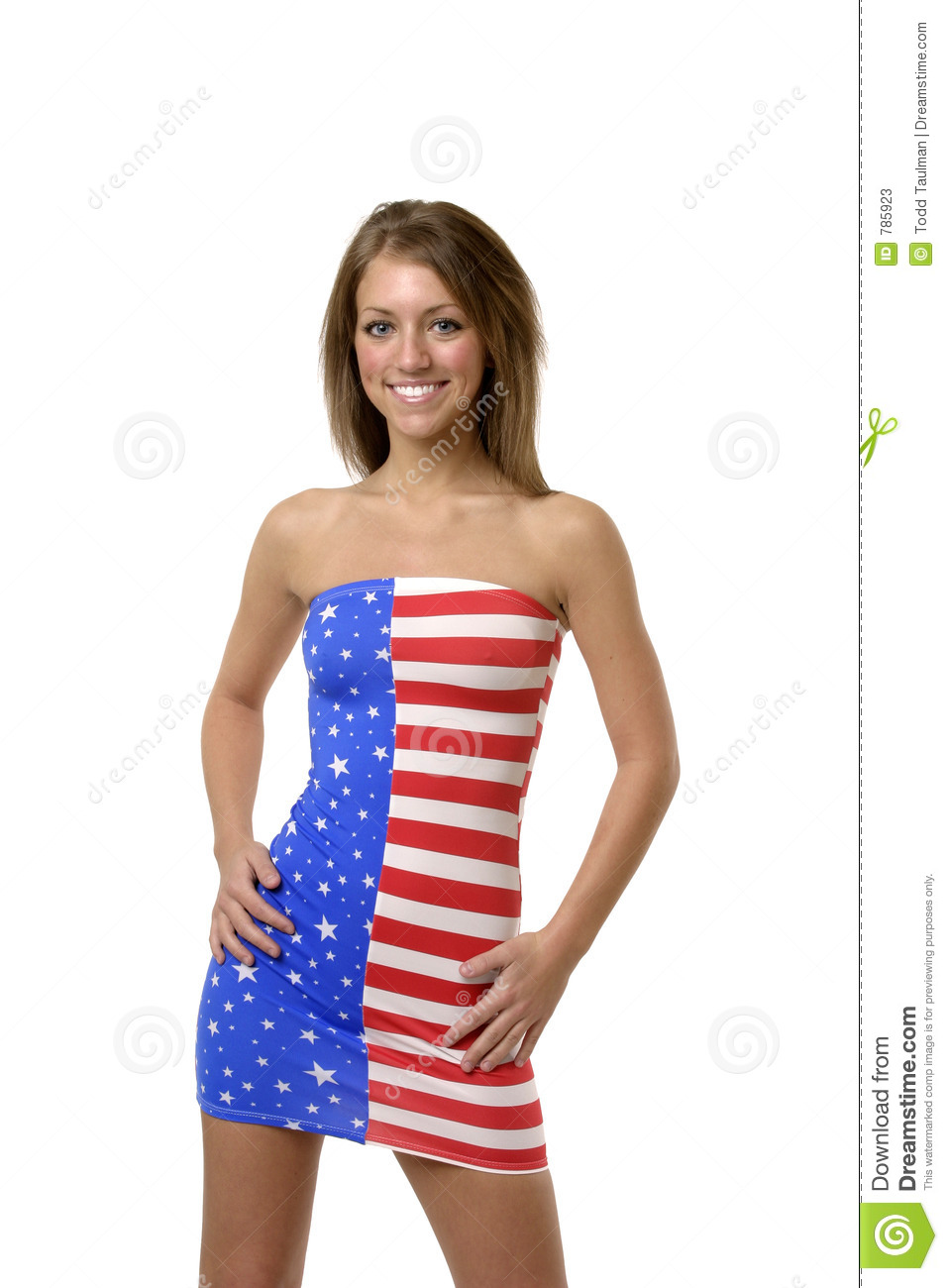 Americans girl in hot position