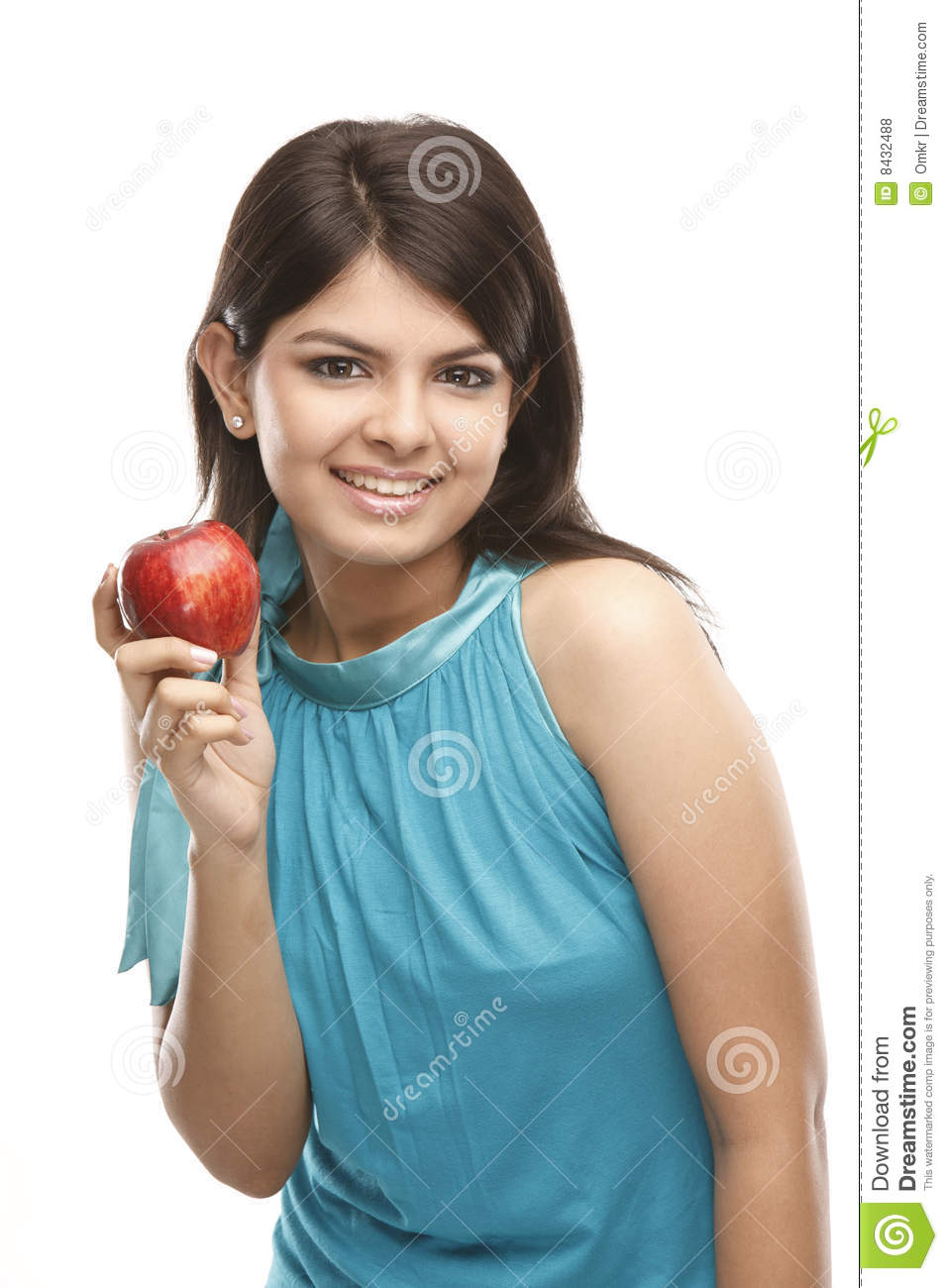 Sexy Girl With Apple Royalty Free Stock Photos Image