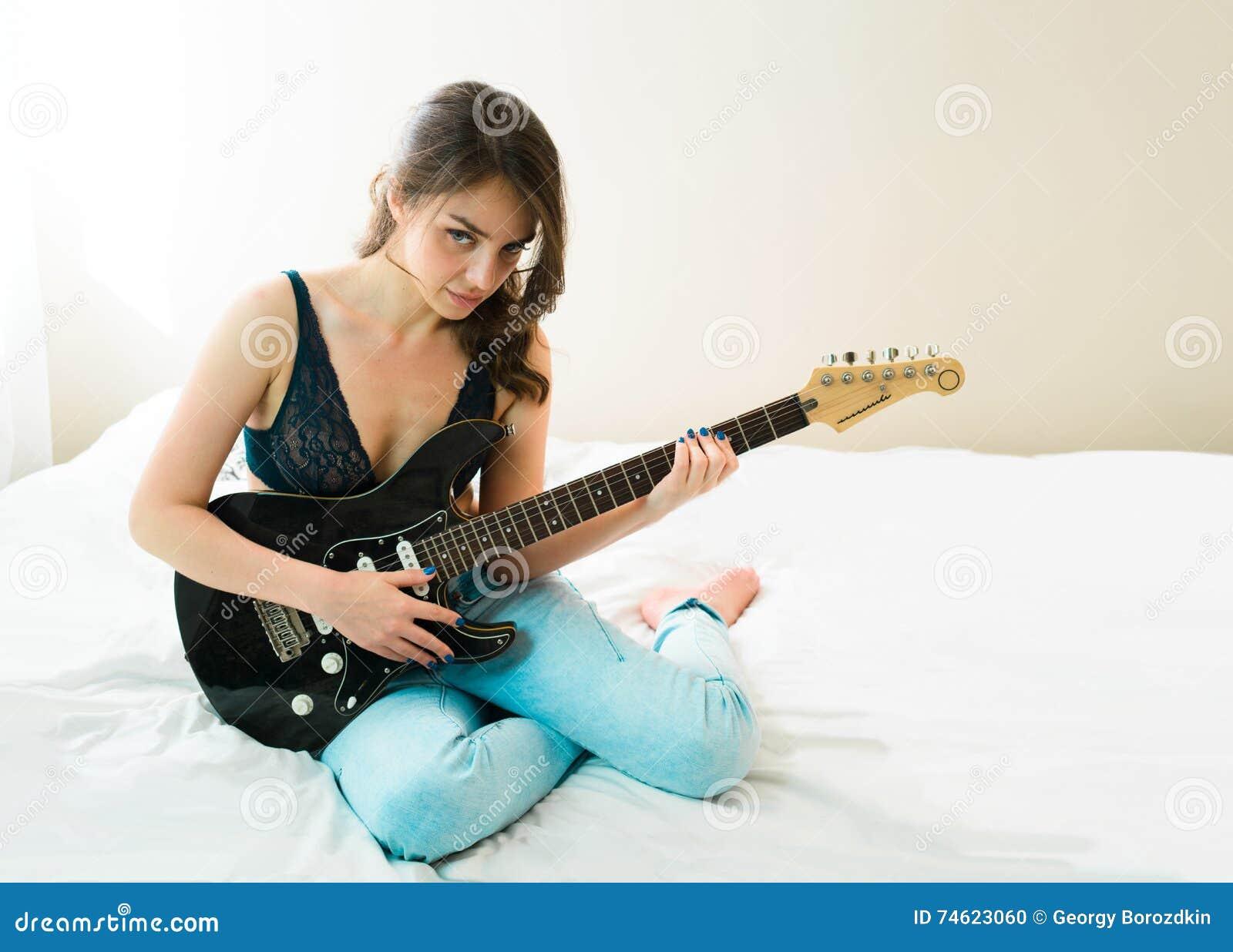 guitar lingerie Girl