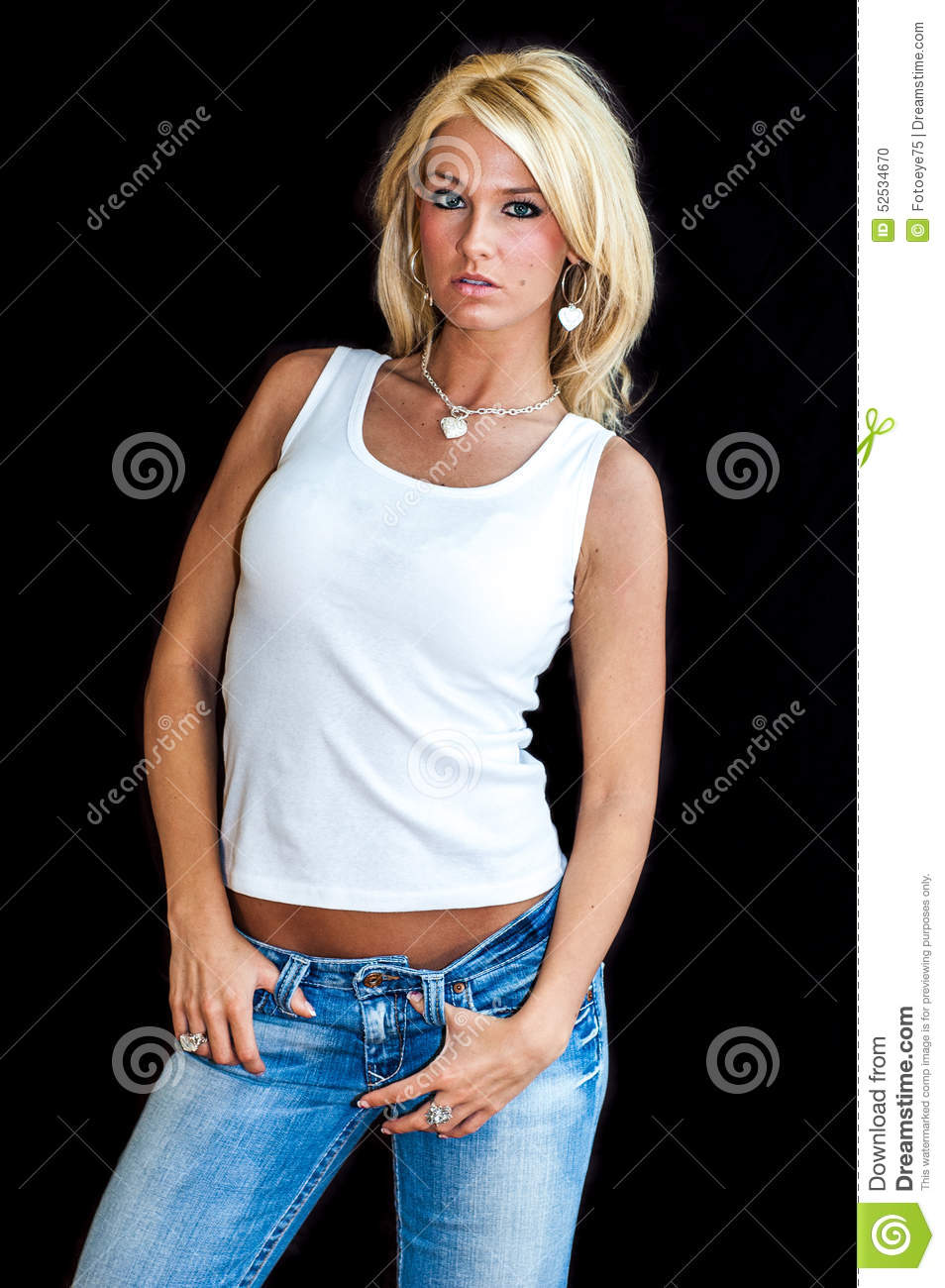 Girl Blonde Fashion Model Stock Photo Image Of Clothes