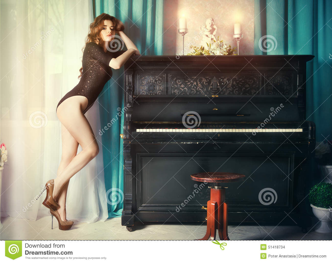 Nude with piano Nude Photos 30