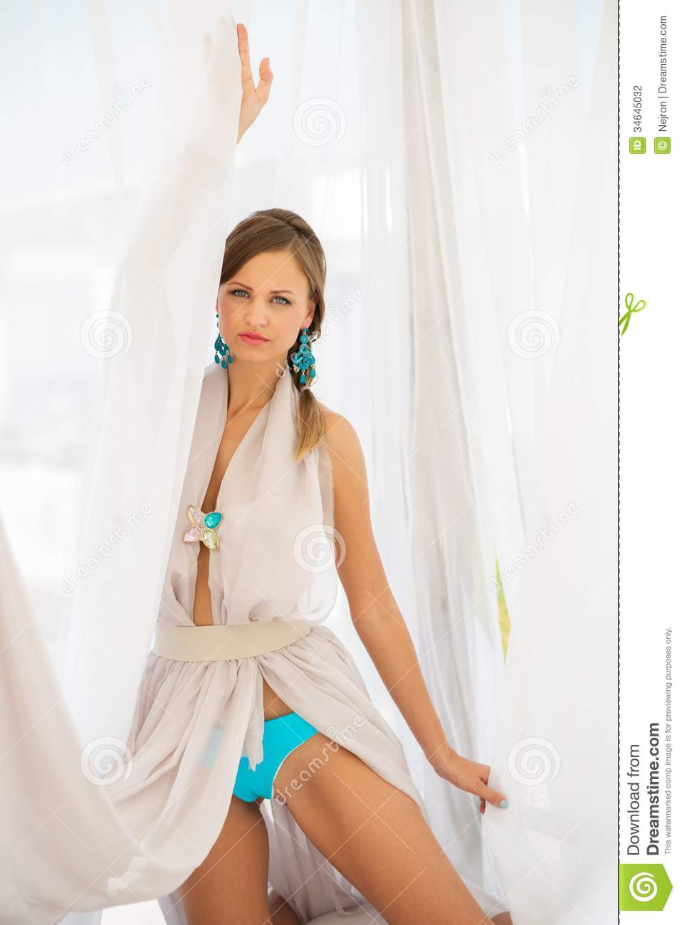 Girl In Cocktail Dress Stock Photography Image 34645032