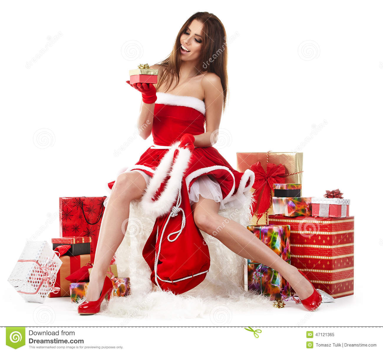 Hot christmas girl santa-3187