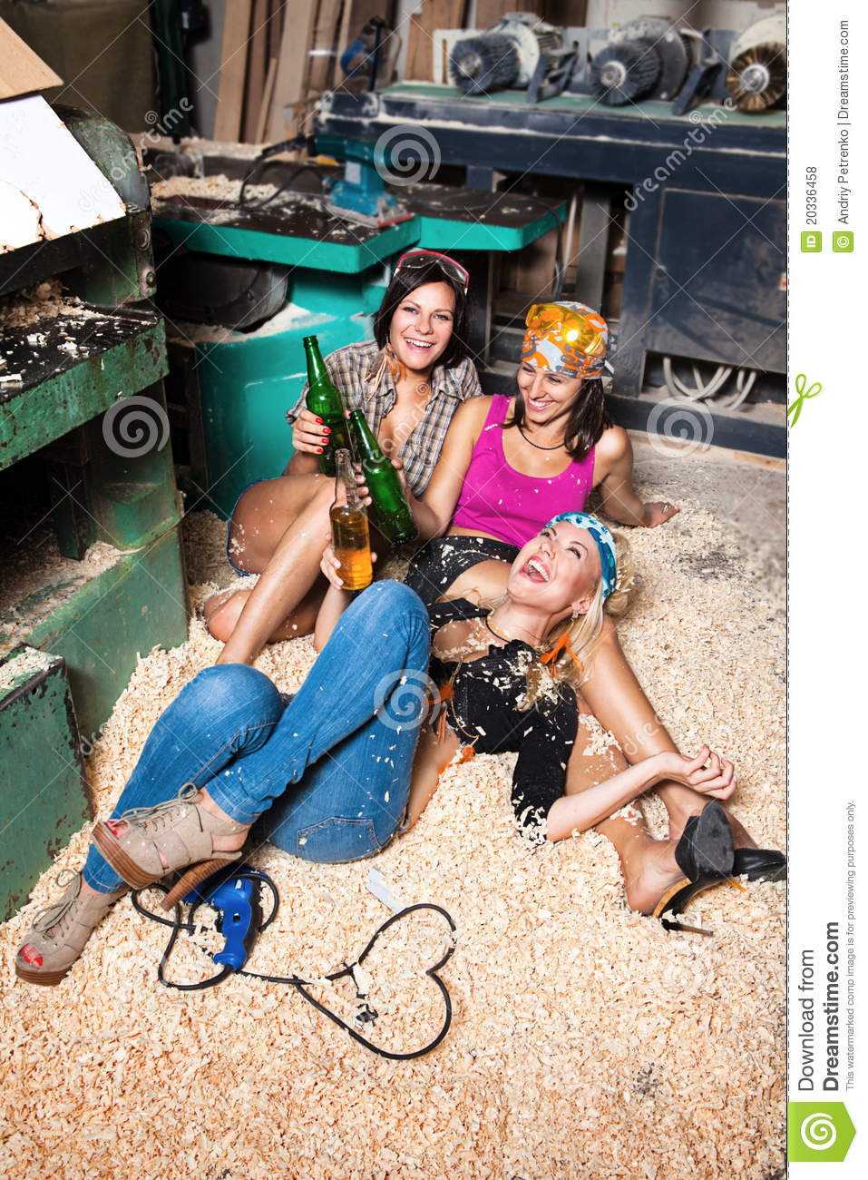 Girls In The Carpentry Shop Carpenters Stock Photo - Image -7913