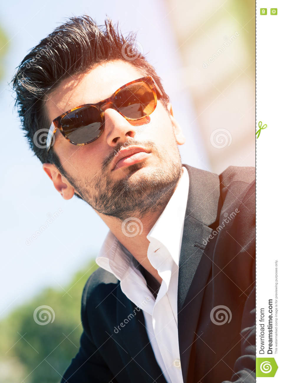 Download Gorgeous Stylish Man. Sunglasses Stock Photo - Image of casual, business: 76152272