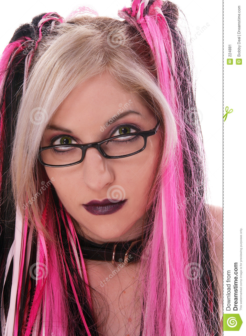 Goth Nerd Stock Image Image Of People, Female, Naked -7808
