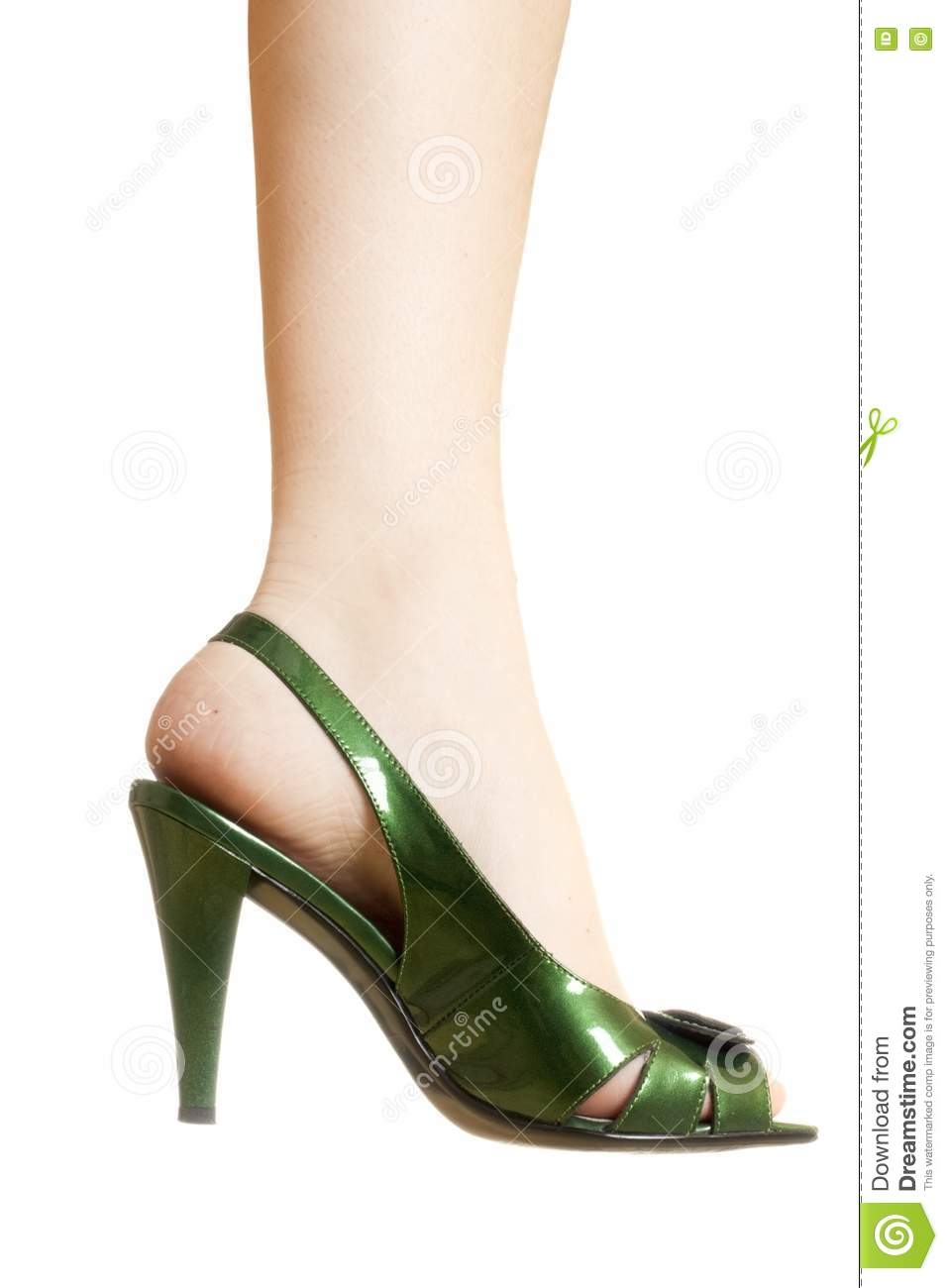 sexy green leather high heels stilettos shoes royalty free. Black Bedroom Furniture Sets. Home Design Ideas