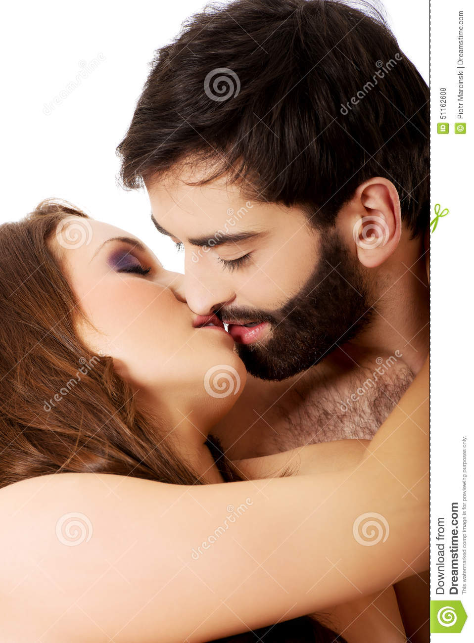 Heterosexual couples kissing