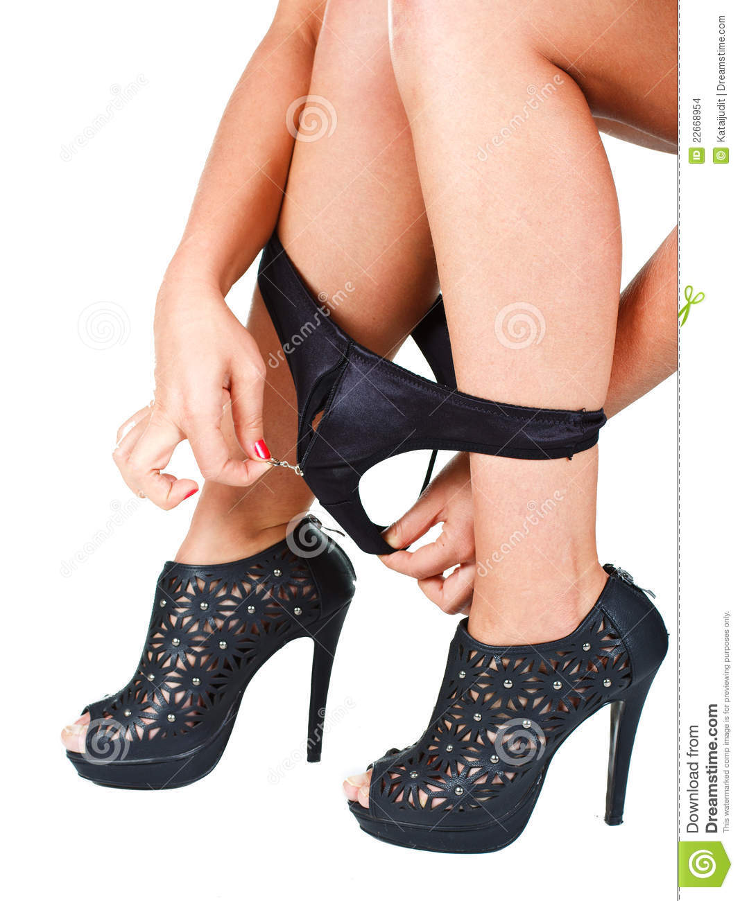 Are Black high heels with panties consider
