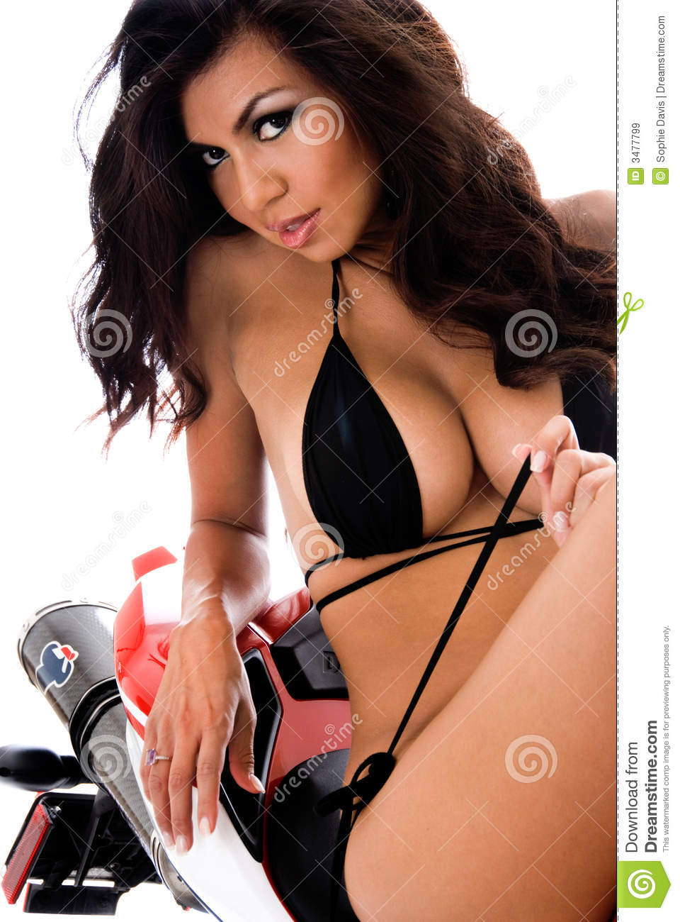 Sexy Hispanic Biker Royalty Free Stock Images Image 3477799
