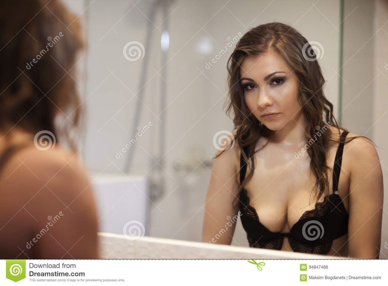 Erotic pictures of women looking in mirrors are