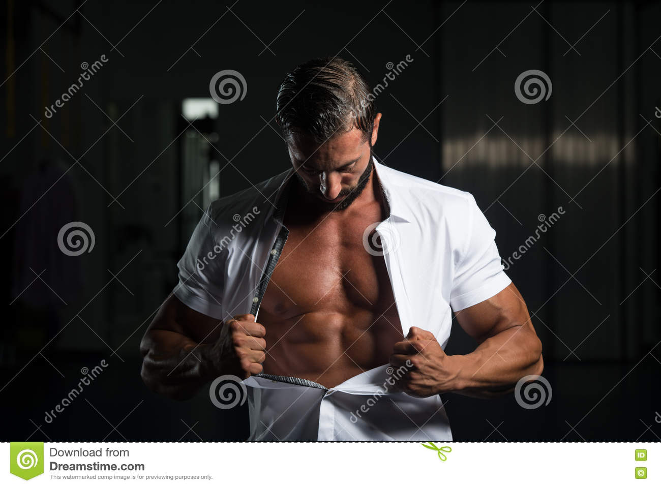 Handsome Muscular Men Stock Photo   Getty Images