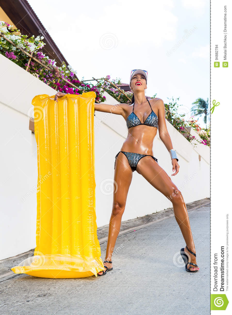 Lady With Long Legs Near White Wall. Stock Photo - Image of ... c04ce94e7