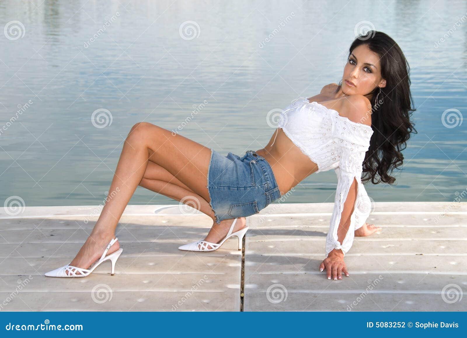 outdoors Sexy latina