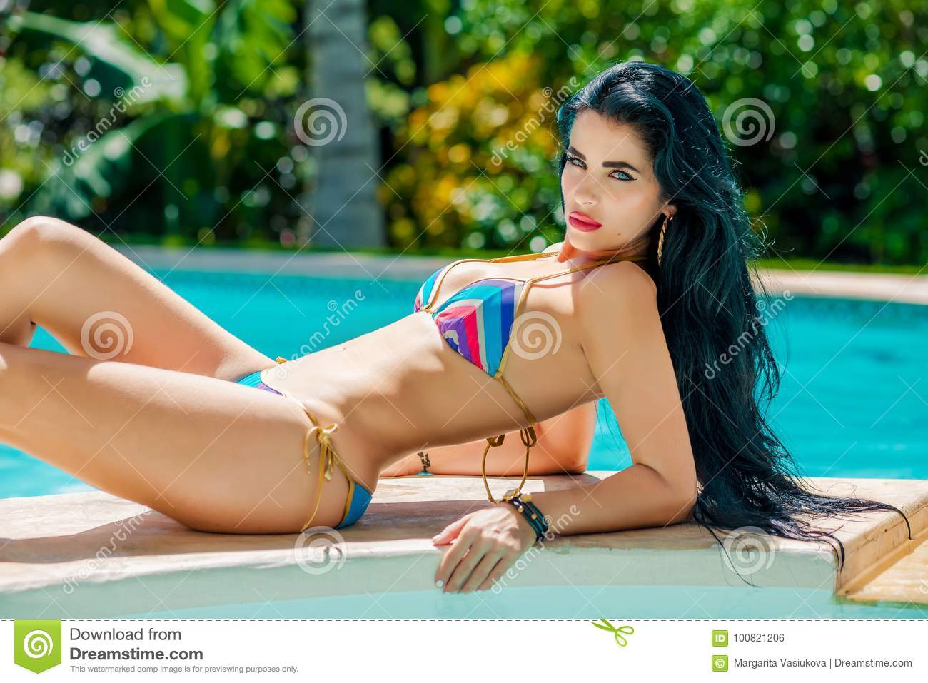 Really. Latina in bikini by a pool excellent idea