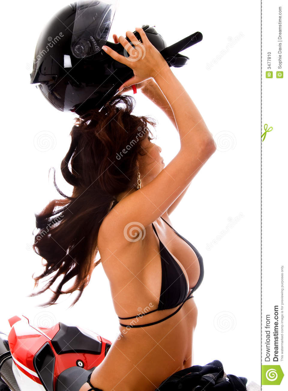 latina in motorcycle helm