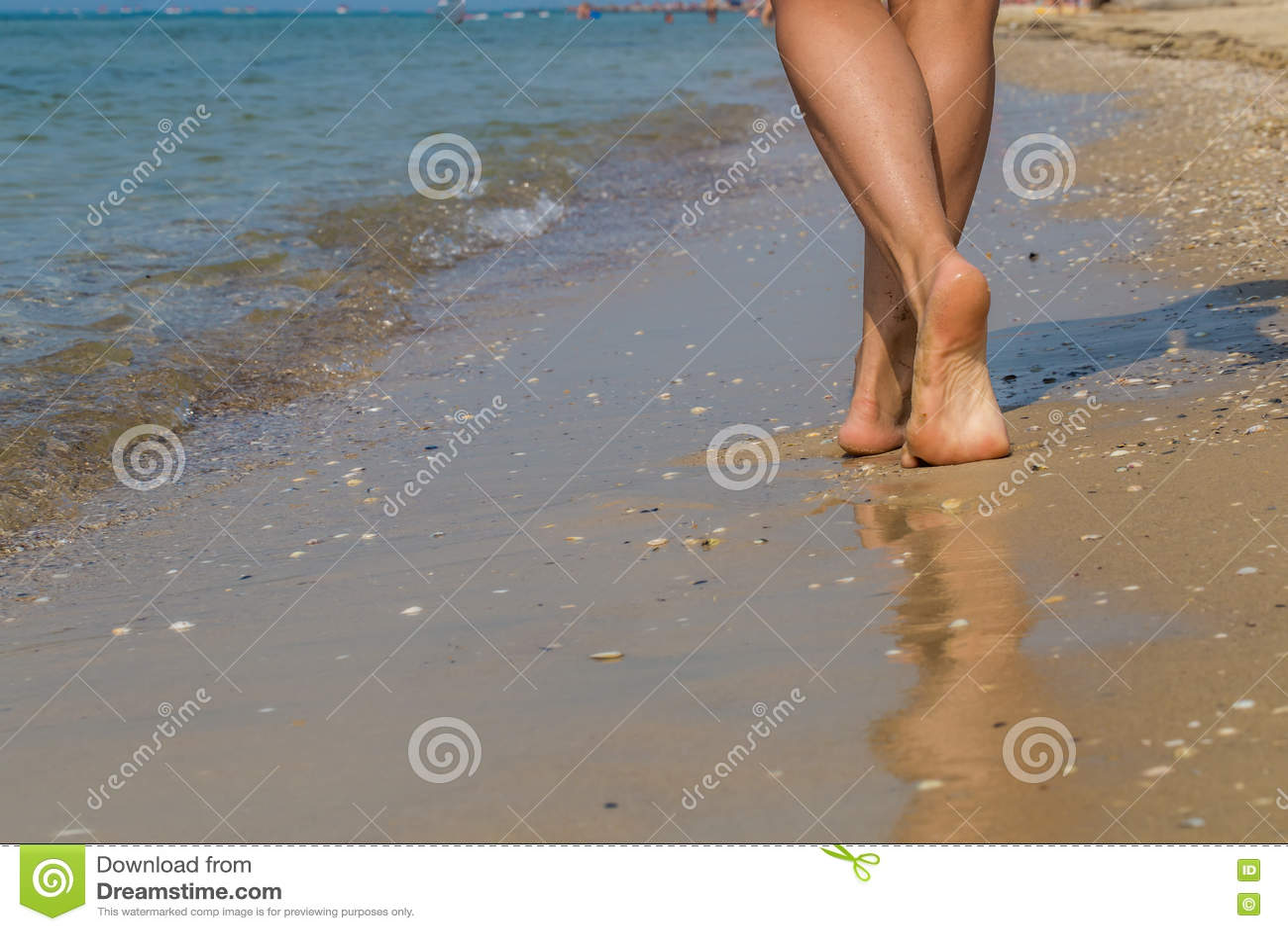 beach Sexy feet at